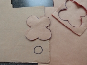 Cut out poppy and draw circle for centre of poppy