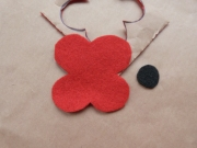 Two pieces - poppy and centre of poppy