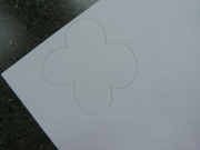 Draw poppy or print from the printable pattern