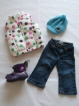 12-24 months - A fun and bright outfit for some serious play.