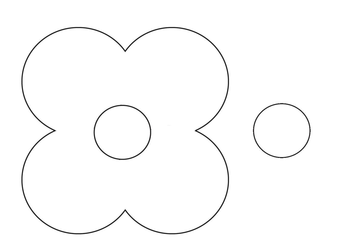 Цветок шаблон картинки 6