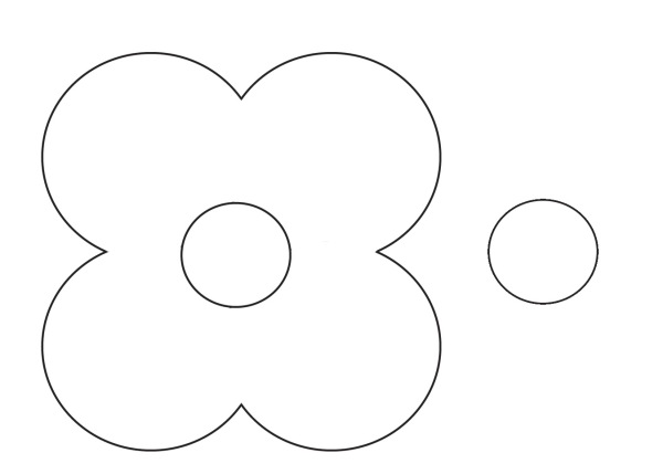 poppy pattern for craft