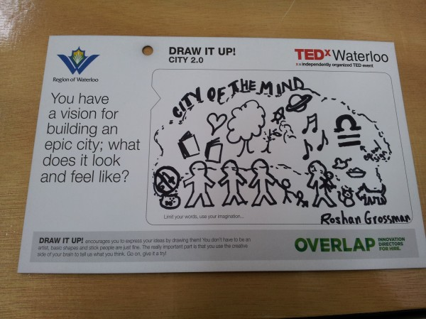My rendition of City 2.0 at TEDxWaterloo 2013