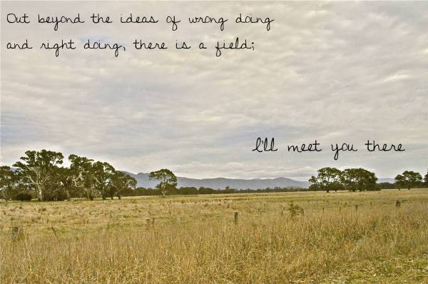 Rumi - I'll meet you there