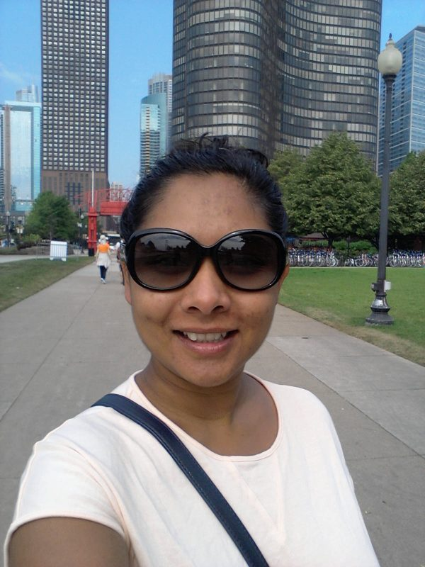 Down by Navy Pier in Chicago on a Sunday morning.