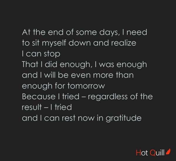 """""""Enough"""" poetry by Roshan James, Kitchener, Waterloo, Ontario, Canada"""