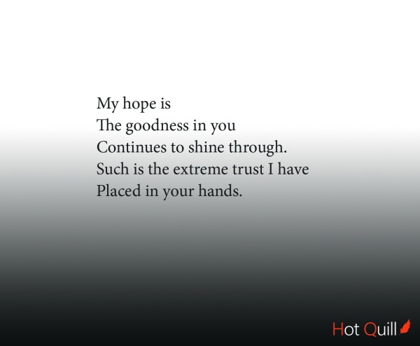 """Goodness"", poetry by Roshan James, Kitchener, Waterloo, Ontario, Canada"
