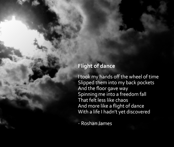 """Flight of dance"" - poetry and photography by Roshan James, Wellesley, Ontario, Canada"