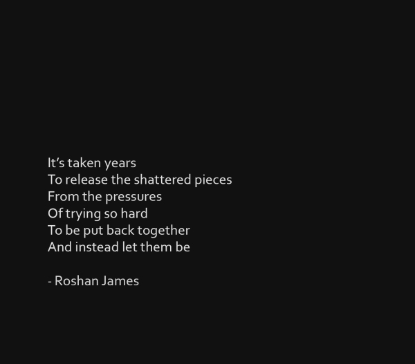 """Be"" - poetry by Roshan James, Wellesley, Ontario, Canada"