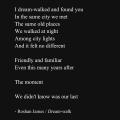 """""""Dream-walk"""" - poetry by Roshan James, Wellesley, Ontario, Canada"""