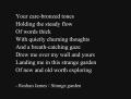 """Strange garden"" - poetry by Roshan James, Wellesley, Ontario, Canada"