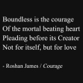 """Courage"" - poetry by Roshan James, Wellesley, Ontario, Canada"