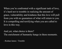 """Tremble"" - poetry by Roshan James, Wellesley, Ontario, Canada"